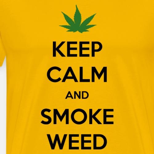 Keep Calm and Smoke Weed (Blijf Kalm en Rook Wiet) - Mannen Premium T-shirt