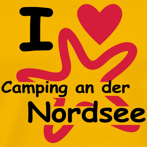 Camping an der Nordsee - Männer Premium T-Shirt