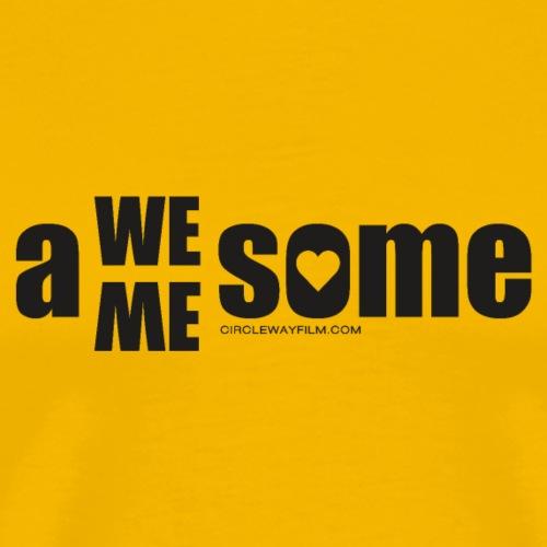 awesome we+me shirt – schwarz