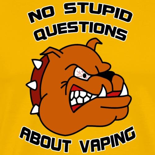 No stupid questions about vaping - Männer Premium T-Shirt