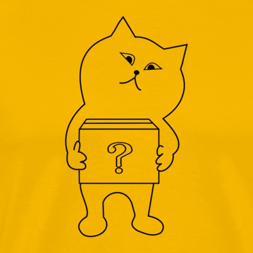 Fragende Katze - Männer Premium T-Shirt
