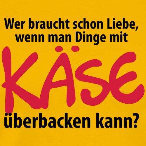 Liebe Love Käse backen Grill Ofen Herd Amors Pfeil - Men's Premium T-Shirt