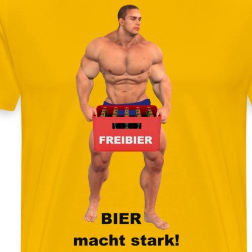 Bier Bierkasten Vatertag Bodybuilder - Männer Premium T-Shirt