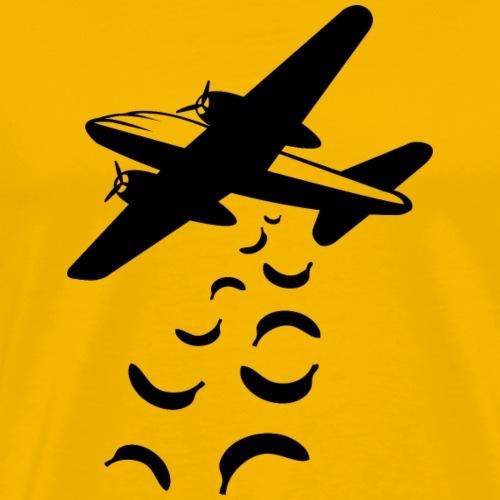 Bananas not bombs - Mannen Premium T-shirt