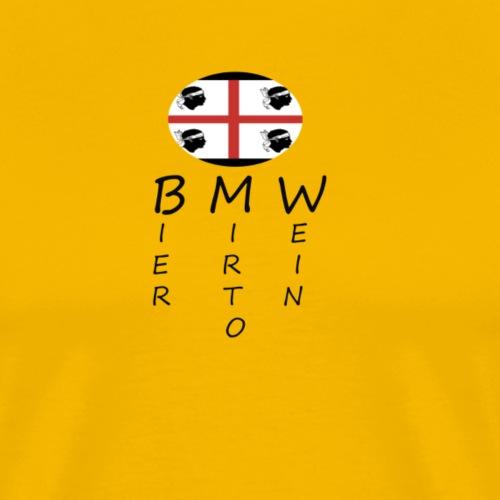 BIER MIRTO WEIN - Männer Premium T-Shirt