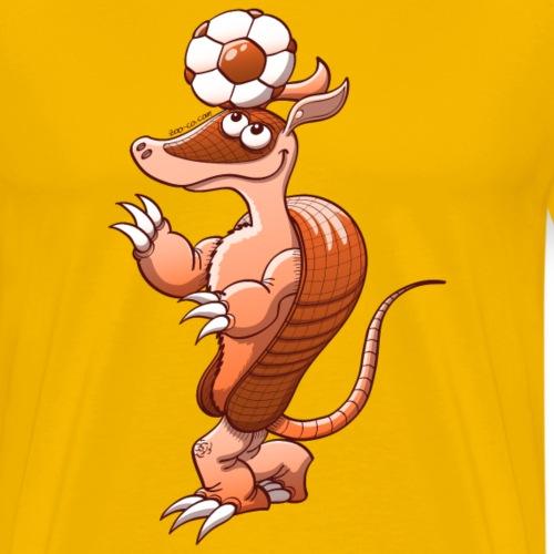 Armadillo Playing Football - Men's Premium T-Shirt