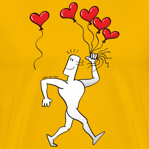 A New Heart Balloon is in the Air - Men's Premium T-Shirt