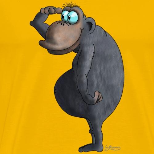 cooler Affe - Männer Premium T-Shirt