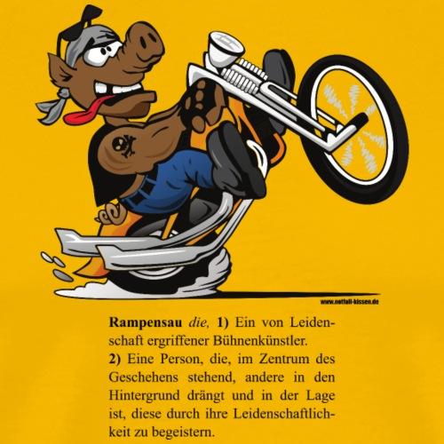 Rampensau - Motorrad - Männer Premium T-Shirt
