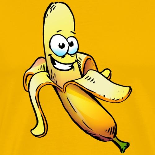 Krumme Banane Cartoon - Männer Premium T-Shirt