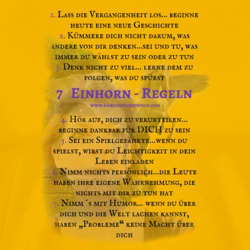 7 Einhorn-Regeln - Männer Premium T-Shirt