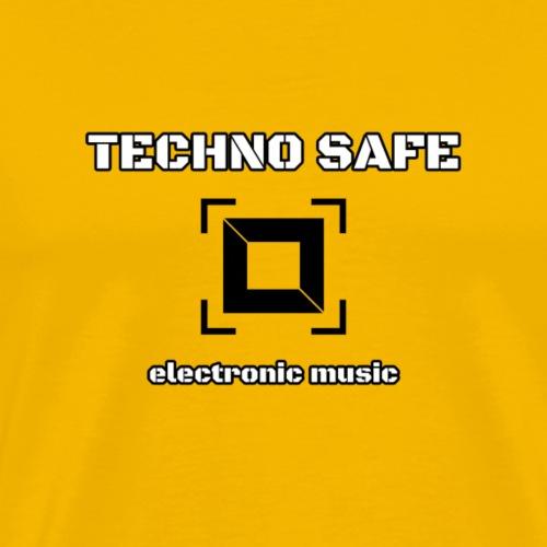 Logo schwarz/weiss electronic music - Männer Premium T-Shirt