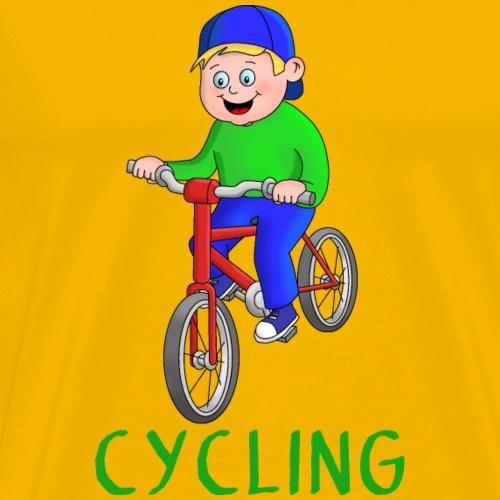 Fahrrad Junge - Biken - Radfahren - Biker - Männer Premium T-Shirt