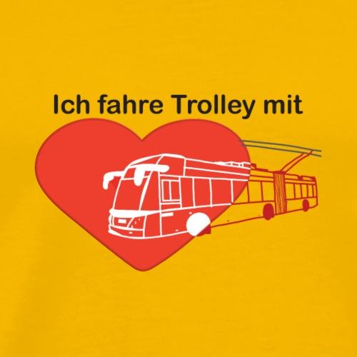 Ich fahre Trolley mit Herz (rot) - Männer Premium T-Shirt