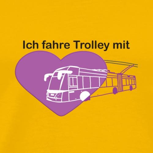 Ich fahre Trolley mit Herz (violett) - Männer Premium T-Shirt