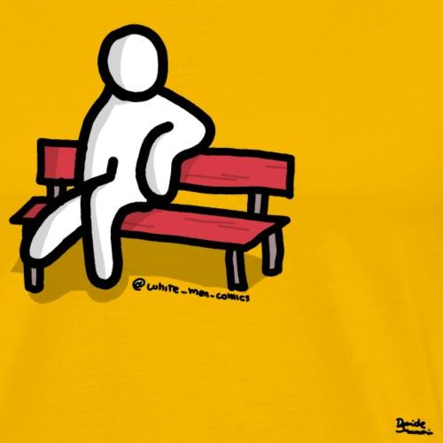 white man seduto - Maglietta Premium da uomo