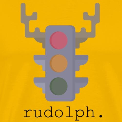 Rudolph the Red light - Mannen Premium T-shirt