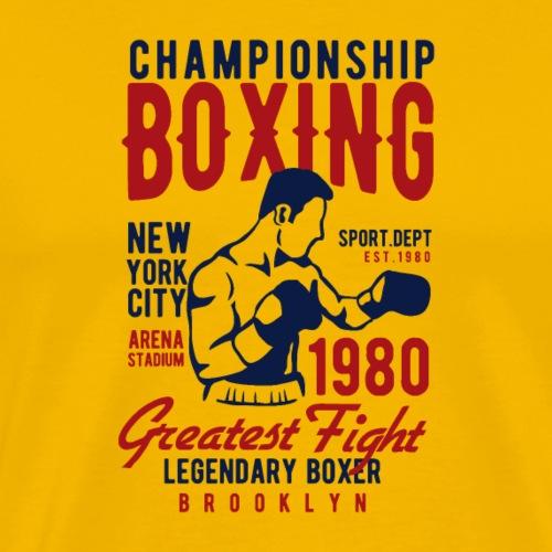 Championnat de boxe - T-shirt Premium Homme