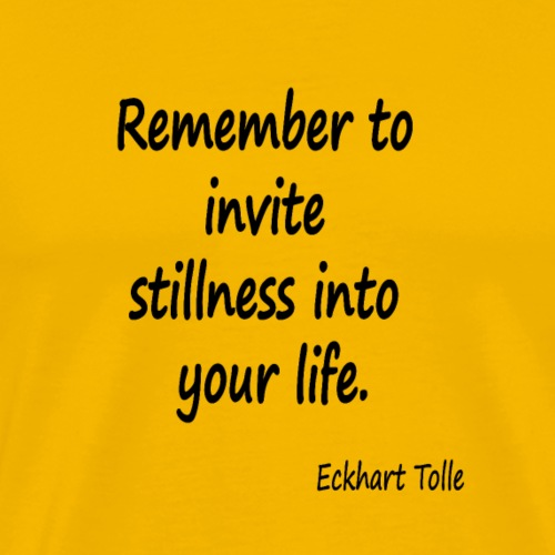 Invite Stillness - Men's Premium T-Shirt