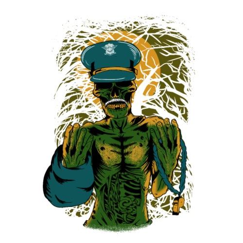 Zombie Cop - Männer Premium T-Shirt
