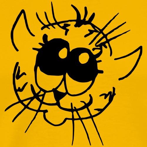 Putziges visage de chat avec de grands yeux - T-shirt Premium Homme
