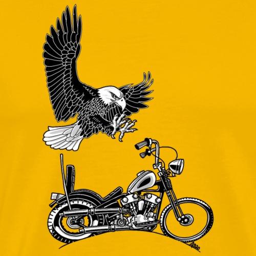 0906 eagle chopper knucklehead - Mannen Premium T-shirt