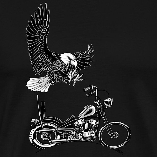 0906 eagle chopper knucklehead