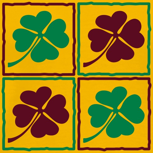 Klee Blatt Irland Patrick Irish glücklich Wiese - Men's Premium T-Shirt