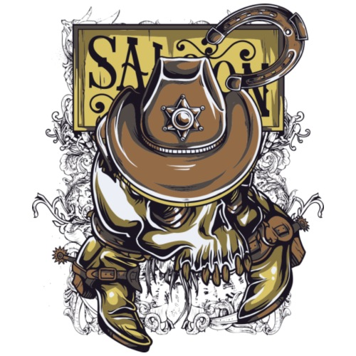 Saloon - Camiseta premium hombre