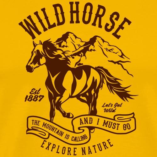 Wild Horse - Männer Premium T-Shirt