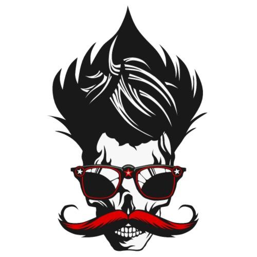 tete de mort moustache crane cheveux coiffure lune - T-shirt Premium Homme