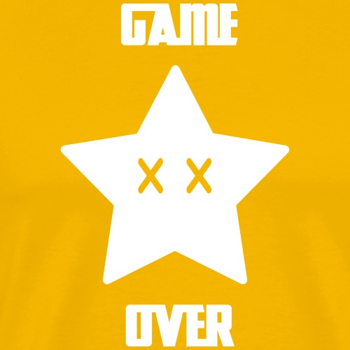Game Over - Mario Star - T-shirt Premium Homme