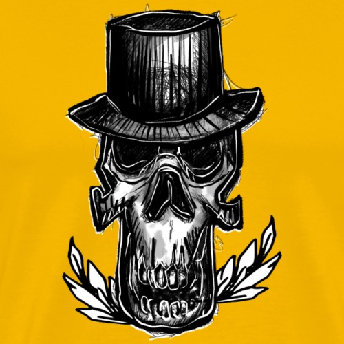 Skull Hats - T-shirt Premium Homme