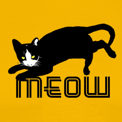 böse schwarze Katze Kätzchen Kater - Männer Premium T-Shirt