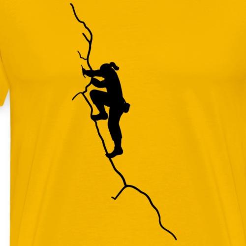 Kletter-Girl, schwarz, 4 - Männer Premium T-Shirt
