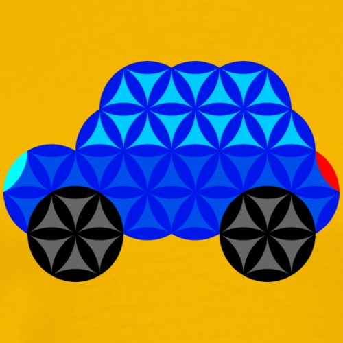 The Car Of Life - M01, Sacred Shapes, Blue/R01. - Men's Premium T-Shirt
