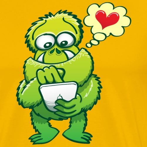 Ugly monster seeking love on the Internet - Men's Premium T-Shirt