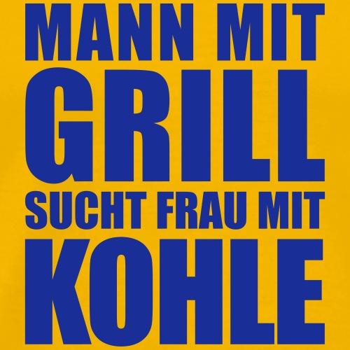 Mann Frau Grill Kohle Geld Dollar Euro Party - Men's Premium T-Shirt