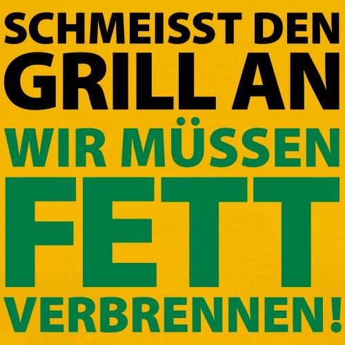 Grill Fett verbrennen Rind Steak Schwein Fleisch - Men's Premium T-Shirt
