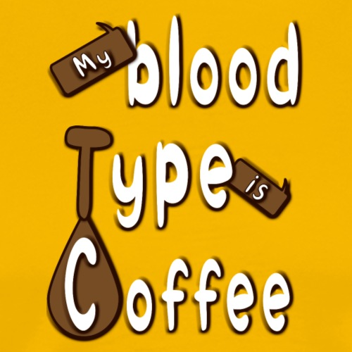 Blood Coffee - Miesten premium t-paita