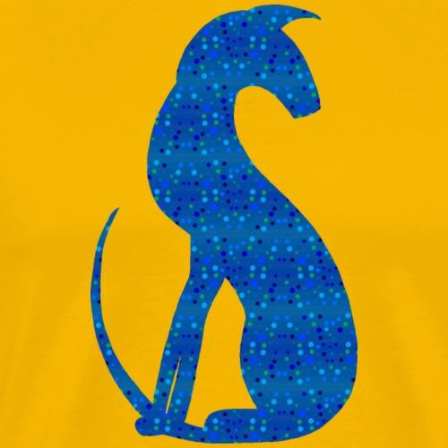 Siluett blå - Premium-T-shirt herr