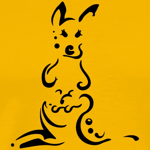 Kangaroos, clean tribal design - Men's Premium T-Shirt