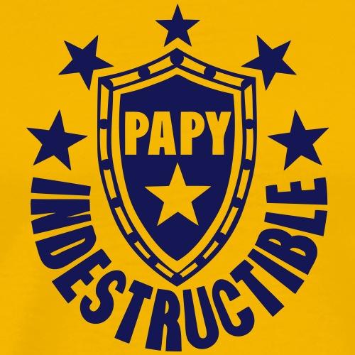 papy indestructible bouclier logo - T-shirt Premium Homme