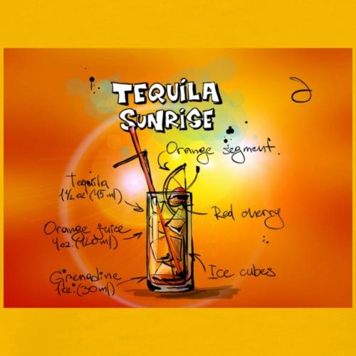 tequila-sunrise-833905_1280 - Premium-T-shirt herr