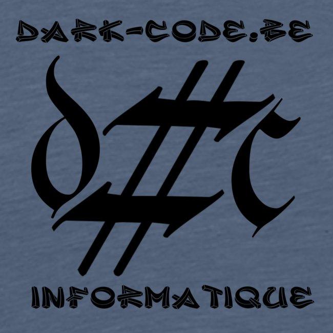 Dark-Code Black Gothic Logo