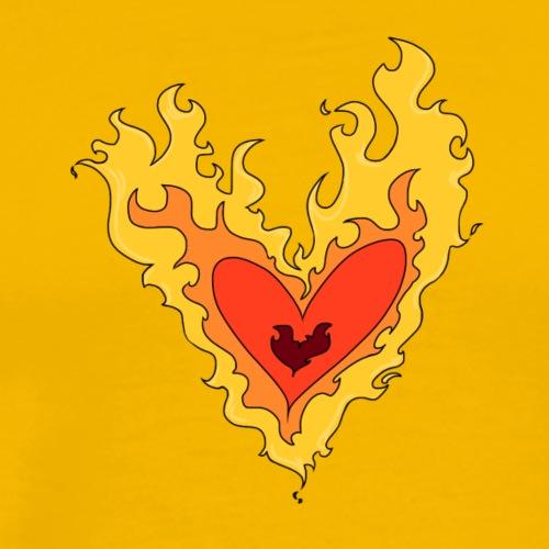 Burning love - Men's Premium T-Shirt