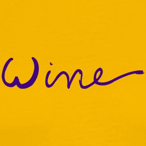 WINE art logo PAARS - Mannen Premium T-shirt