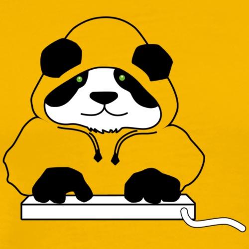 Panda Transparent Hoody (ohne Text) - Männer Premium T-Shirt