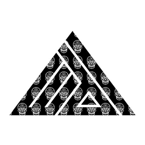 Edi Logo Skull op zwart - Mannen Premium T-shirt