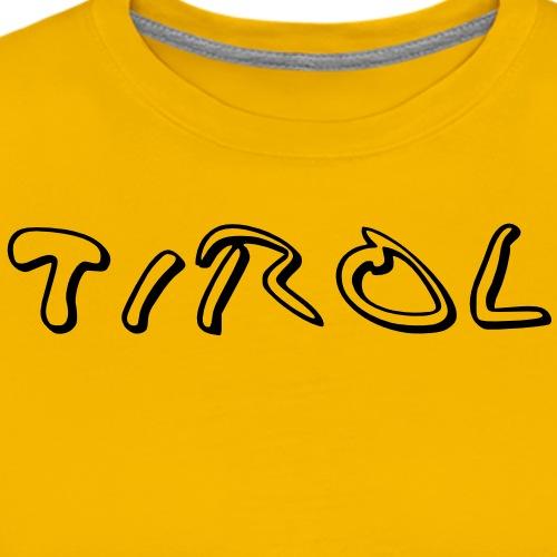 Tirol T-Shirt Schwarz/Weiß - Männer Premium T-Shirt